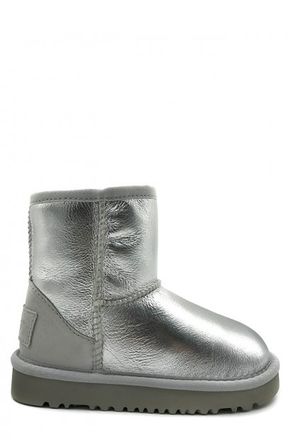 Угги kids classic short metallic silver | Фото №1