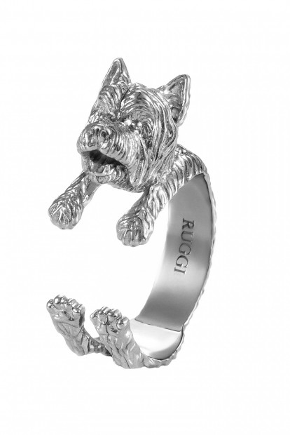 West Highland Terrier Silver Hug Ring | Фото №1