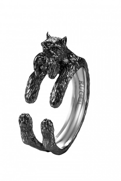 Scottish Terrier Silver Hug Ring | Фото №1