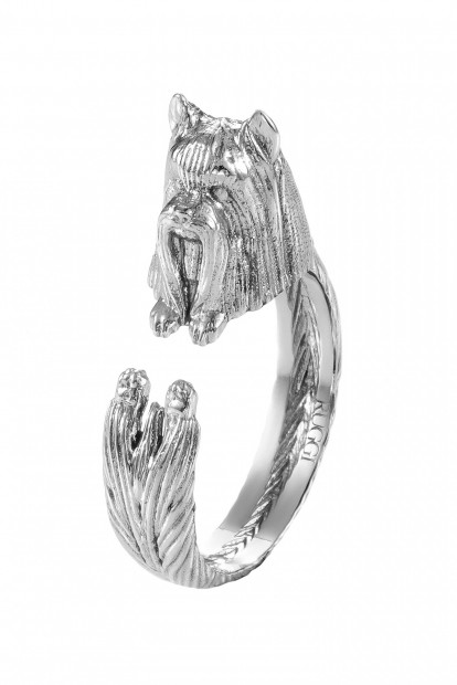 Yorkshire Terrier Silver Hug Ring | Фото №1
